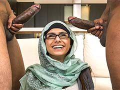 Mia Khalifa's First Monster Cock Threesome