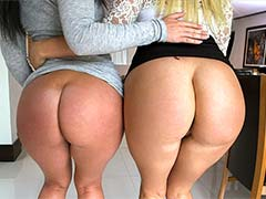 DOUBLE BIG WHITE BOOTY OVERDOSE
